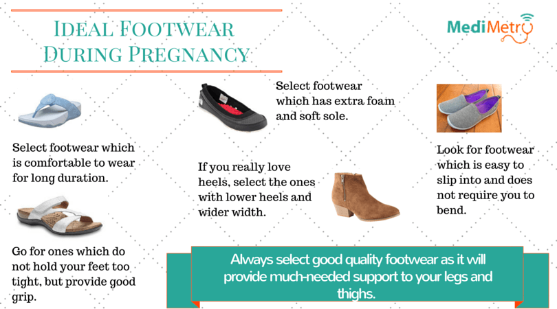 Ideal footwear during pregnancy