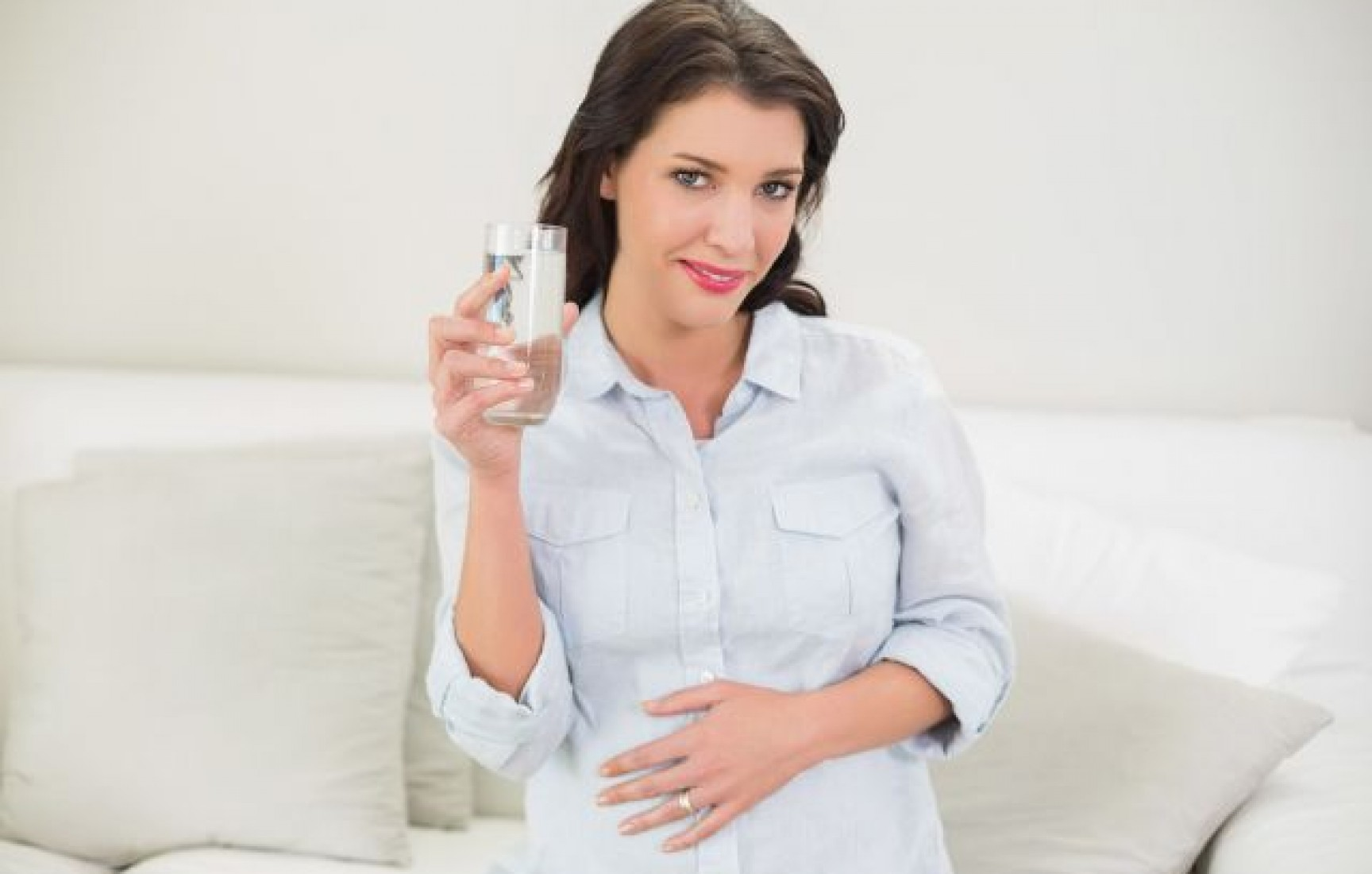 Drink ample water during pregnancy!