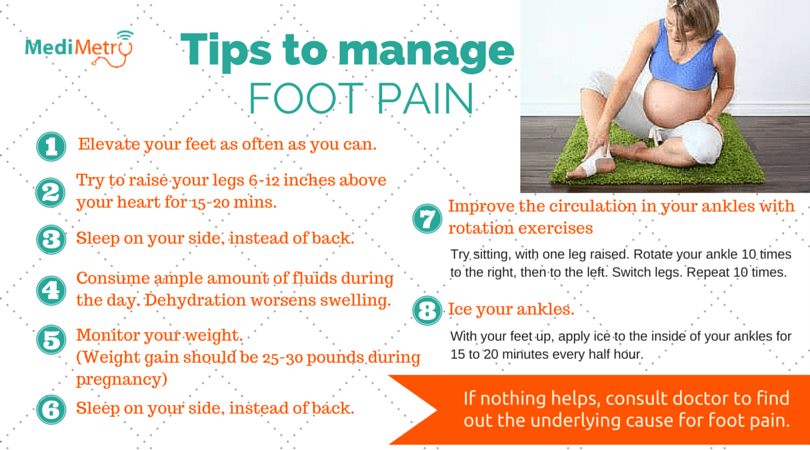 Tips to manage foot pain during pregnancy