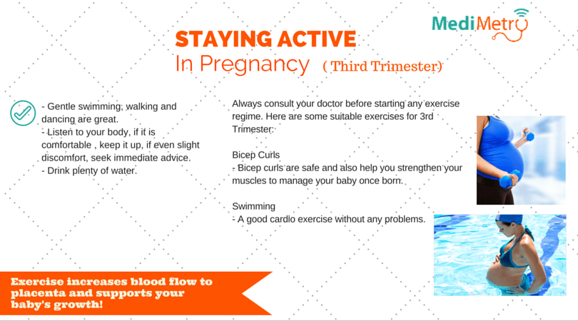 Staying Active – Pregnancy Third Trimester